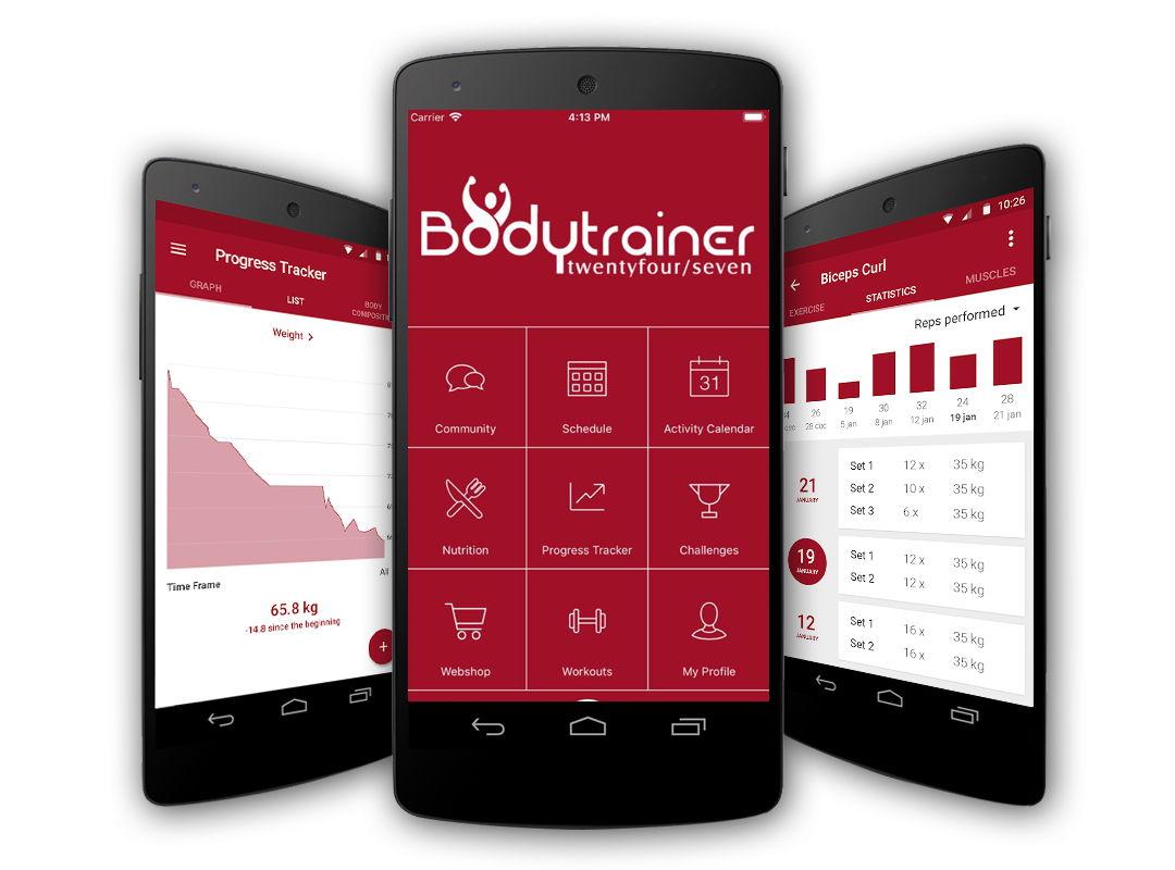 APP Bodytrainer 24/7 entrenador personal estadisticas en tiempo real